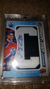 2015/16 Upper Deck Connor McDavid signed Rookie Draft Day Marks Strathcona County Edmonton Area image 3