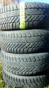 Sets and pairs of winter R16 car tires.