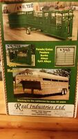 Real industries stock trailers and cattle handling equipment