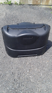 new  20 lb propane tank cover for two tanks in black for camper