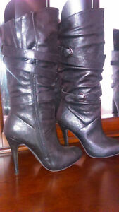 Women's Black leather boots brand new size 9 $50 or best offer