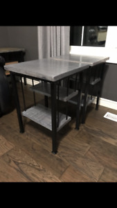 Solid Red Oak side tables