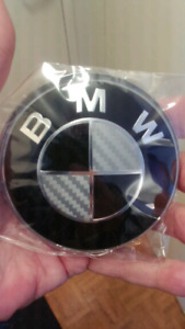 BMW FRONT HOOD EMBLEM REPLACEMENT BLACK.