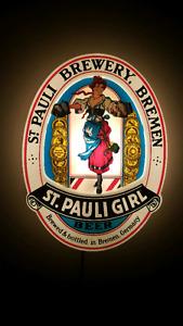 St. Pauli Girl Lighted Beer Sign