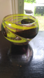 Beautiful green color glass vase