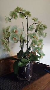 potted artificial orchid