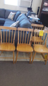 Bass river chairs. Set of four for $200