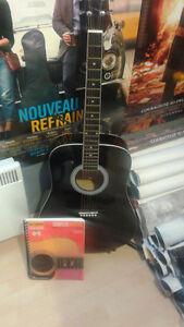 guitar noir madera + livre de hal leonard