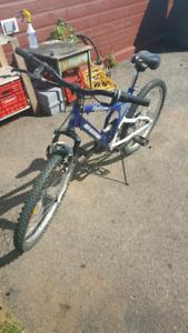 24 inch dual suspension mountain bike