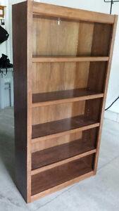 Sauder Salted Oak 5-Shelf Bookcase