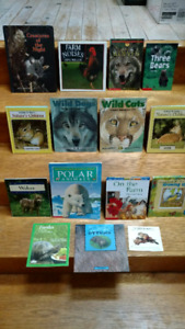 15 Canadian Wild Animals children's information books & posters