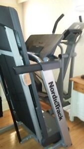 Nordic Track treadmill and Reebok Elliptical trainer