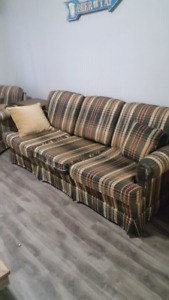 Moving. Couch and chair. Coffee table and end tables