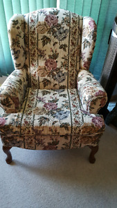 Wing  back chair $25.00