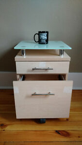 Office side table and file cabinet