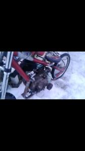 9hp motorized chopper bike