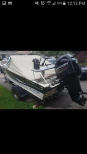 16 smokercraft with 2013 mercury motor....REDUCED FOR QUICK SALE