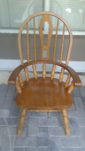 Brown Solid Wooden Chair