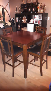 SOLD Pub-style dining table and 4 chairs SOLD