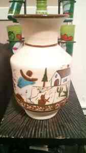 Very Cool Hand Painted Vase Sleepy Mexican