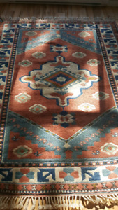 TURKISH Anatolian Wool Area Rug  5.9 × 7.5