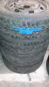 Winter tires   Hankook I-Pike 205/65/16 with rims Strathcona County Edmonton Area image 2