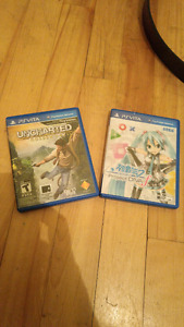 Ps vita: Uncharted Golden Abyss et Atsume Miku