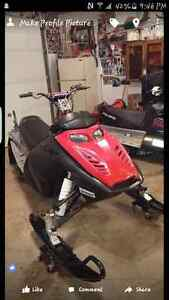 2007 mxzx 440/600, trade for dirtbike!