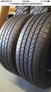 245/50R20 CONTINENTAL CROSSCONTACT used allseason tires 75%tread