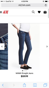 H and M straight leg Maternity Jean