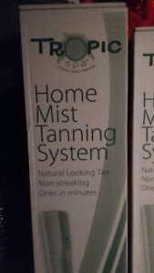 tropic spa home mist tanning system. with refill kit included