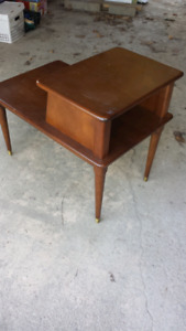 Two Tier Wooden Table