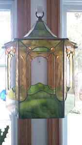 3 Stained glass plant hangers or hurricane candle holders Kingston Kingston Area image 2