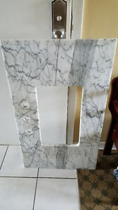 Gorgeous custom made marble vanity top