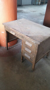 Old Vintage Wooden Desk