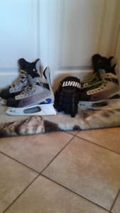 Almost new Skates Plus New Gloves still with Tags