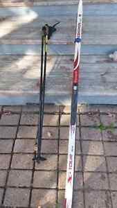FS: classic x-country ski + poles + boots
