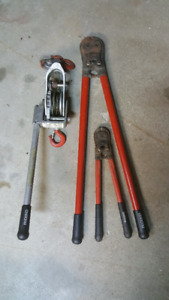 Ridgid cable pulley & bolts cutters