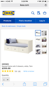 FOR SALE: Daybed from Ikea with storage, excellent condition