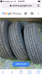 Three tires 235/70R16