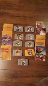 2 GAMES LEFT N64 video games with guides