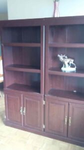 Gently used book cases; classic style