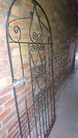 Elegant metal garden gate