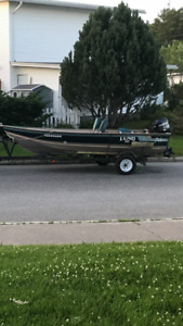 16 foot Lund pike with 35 evinrude and 30hp Yamaha