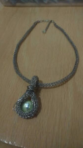"Handcrafted ""Dragon Eye"" Viking Knit Necklace -One Of A Kind"
