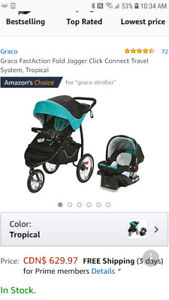 Graco quick connect infant carseat and jogger
