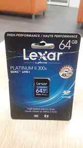 LEXAR 64GB SD MEMORY CARD (Brand new in package)