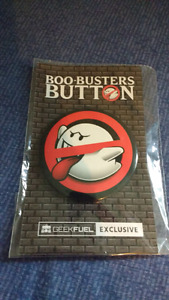 Exclusive Boo-Buster button