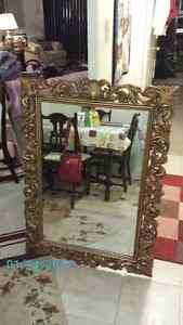 gilt framed antique mirror