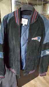 Suede New England Patriot Jacket